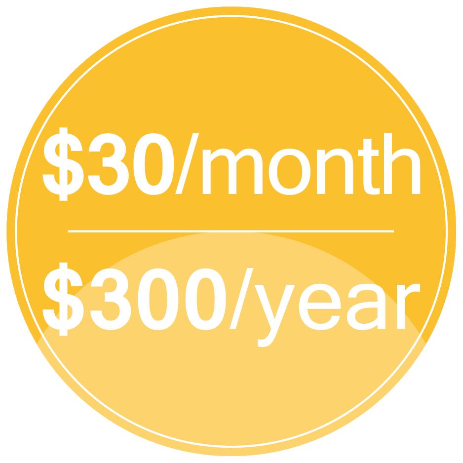 $30 / Month Membership